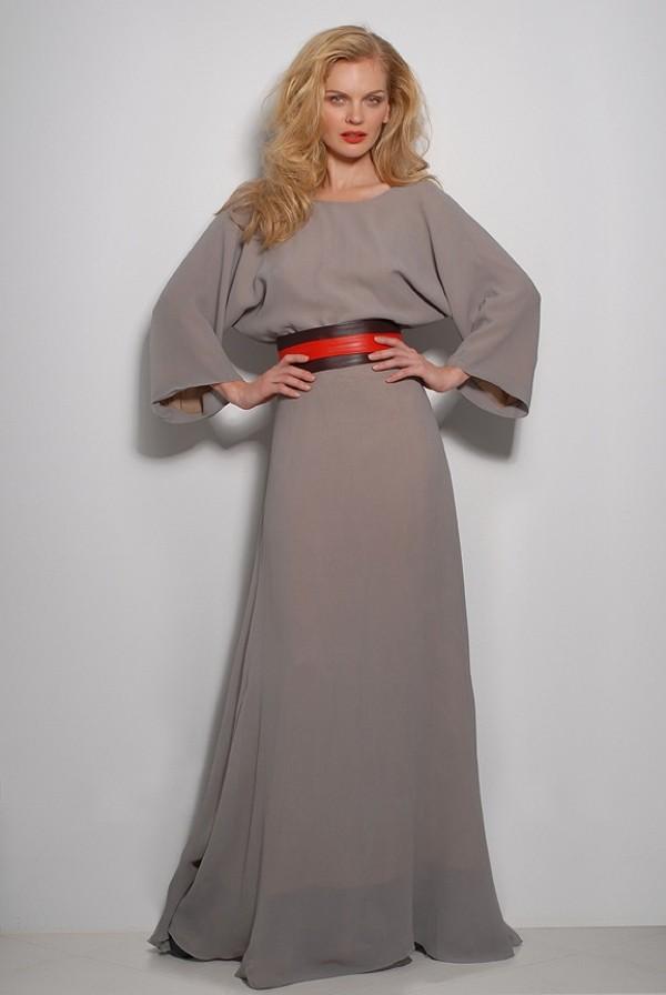 Платье в пол с длинными рукавами сшить своими руками